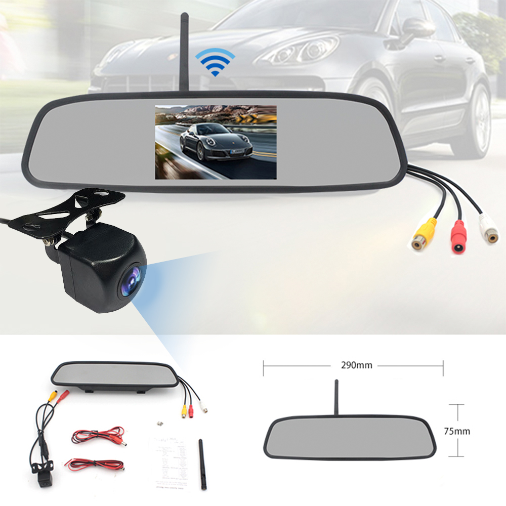 4.3 inch wireless rearview mirror rear view system XY-W2045170